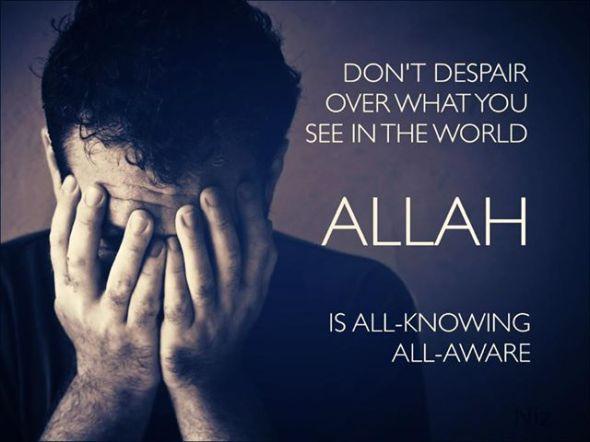 Don't Despair. Allah knows.